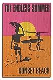 Sunset Beach, New Jersey - Endless Summer - Original Movie Poster (10x15 Wood Wall Sign, Wall Decor Ready to Hang)