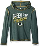NFL Girls 7-16″ Glory Days Tri-Blend Pullover Hoodie-Hunter-S(7-8), Green Bay Packers