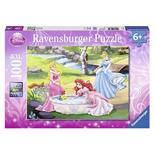 Ravensburger 10639 - Puzzle Enfant Classique - Princesses Disney - Au Bord de la Rivière - 100 Pièces XXL