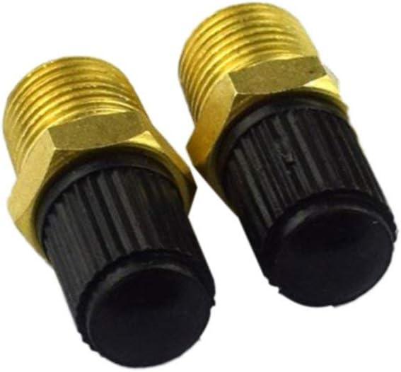 2 PCS//SET Professionnel Double T/ête 1//8NPT MPT En Laiton Compresseur Dair R/éservoir De Remplissage Valve Schrader Accessoires De Voiture