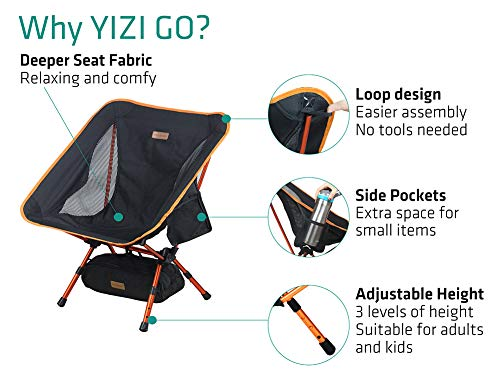 Trekology Yizi Go Portable Camping Chair Adjustable Height