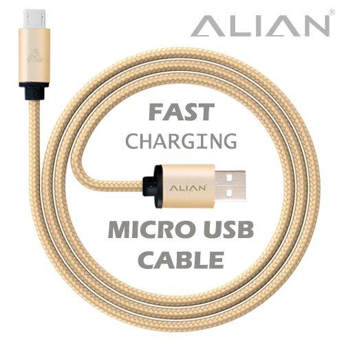 ALIAN Micro USB Cable Nylon Braided 1 Meter