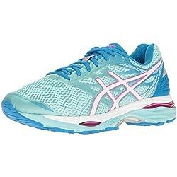 ASICS Women's Gel-Cumulus 18 Running Shoe, Aqua Splash/White/Pink Glow, 9 M US