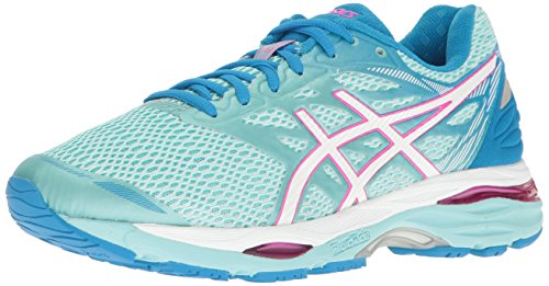 ASICS Women's Gel-Cumulus 18 Running Shoe, Aqua Splash/White/Pink Glow, 7 M US