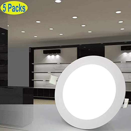 DIMMABLE RECESSED LED PANEL LIGHT FLAT ROUND CEILING DOWNLIGHTS  LAMP BULBS