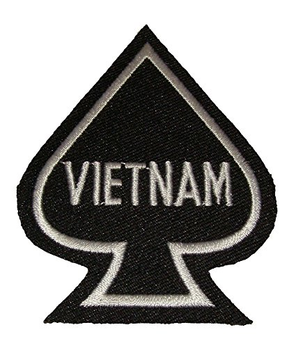 VIETNAM SPADE PATCH - Black & White - Veteran Owned Business