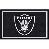 Fanmats NFL Oakland Raiders Nylon Face 4X6 Plush Rug