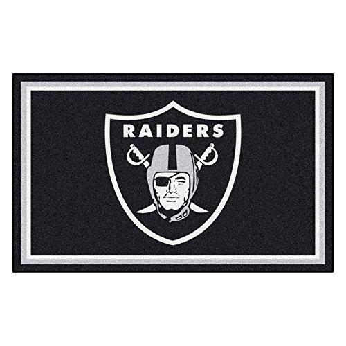 - FANMATS NFL Oakland Raiders Nylon Face 4X6 Plush Rug