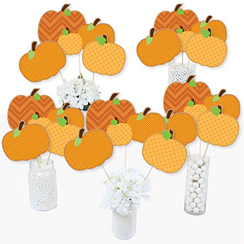 - Pumpkin Patch - Fall & Thanksgiving Party Centerpiece Sticks - Table Toppers - Set of 15