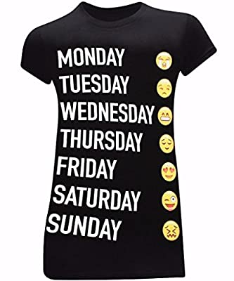 Week Emoji's Women's Fitted Funny T-Shirt