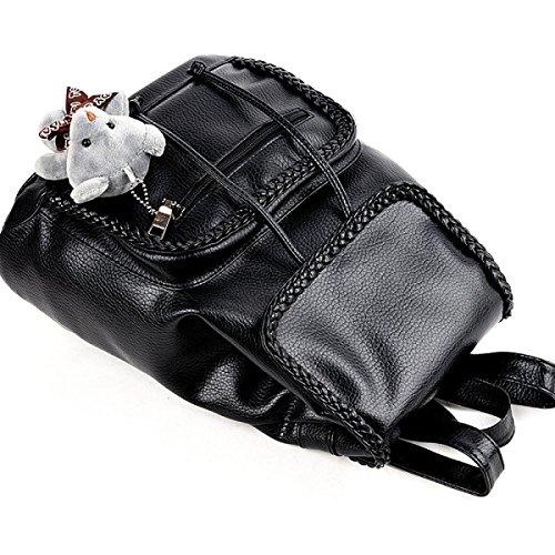 FZHLY Travel Bag Zaino Signore Nuovo Modo Di Cuoio Molle