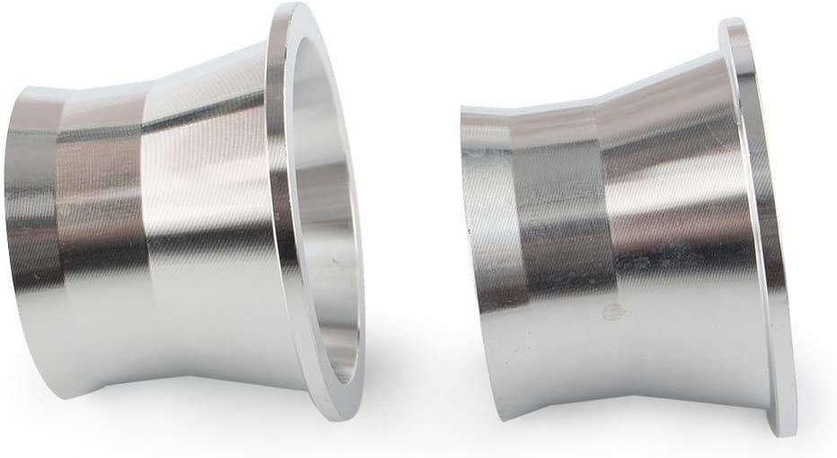 Silver Newsmarts Exhaust Port Torque Cones Drag Pipe Power Cones Anti-Reversion Cones Fit for Harley 1986-2016