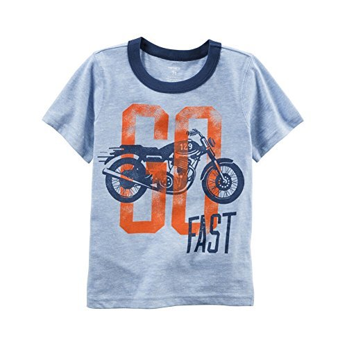 Cycle Ringer (Carters Baby Clothing Outfit Boys Motorcycle Graphic Ringer Tee, Blue, 3M)
