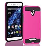 BLU Studio X8 HD case, {NFW} Tough Hybrid + Dual Layer Shockproof Drop Protection Metallic Brushed Case Cover for Studio X8 HD (S530) (VGC Pink)