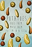 Kitchen Print Potatoes Art Rustic Kitchen Farmhouse Print on Cotton Canvas and Paper Canvas Poster - Wall Art