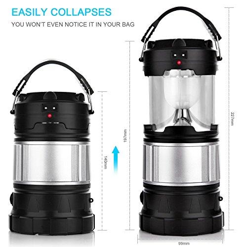 Solar Camping Lantern, APPHOME Portable Outdoor ...