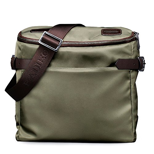 Padieoe Las hombres impermeable Nylon bolsas de mensajero hombro bolsas Casual bolso Tote Verde Verde