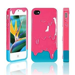 BestCool - Carcasa para iPhone 5 y 5G, diseño de helado derretido, color rosa y azul