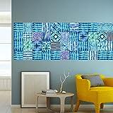 Tile decals Montmarault - Set of 16 - Tile Decals for Backsplash bathroom Kitchen Home decor (3 x 3 inches)