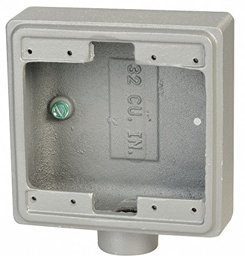 Appleton Electric Weatherproof Electrical Box, 2-Gang, 1-Inlet, Malleable Iron FD-2-100 - 1 Each
