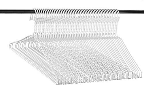 Neaties USA Made Heavy Duty White Vinyl Wire Clothes Hangers, 60pk ()