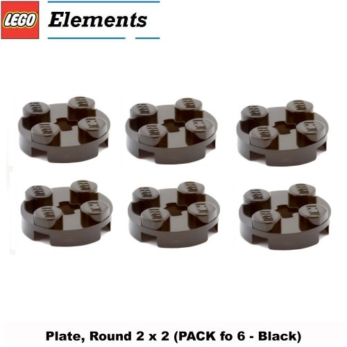 Star Wars Clone Scout Walker (Lego Parts: Plate, Round 2 x 2 (PACK of 6 - Black))