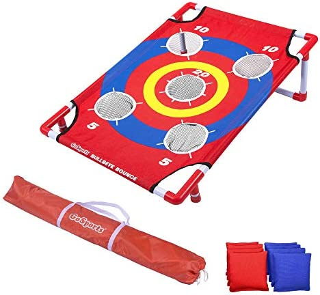 GoSports Disney Pixar Bean Bag Toss and Cornhole Games – Choose Between Frozen 2, Cars and Finding Nemo – Includes 8 Bean Bags with Portable Carrying Case