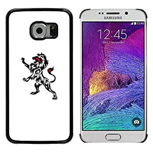 Exotic-Star ( Ink Decal Art Clean White Black Minimalist ) Fundas Cover Cubre Hard Case Cover para Samsung Galaxy S6 EDGE / SM-G925 / SM-G925A / SM-G925T / SM-G925F / SM-G925I