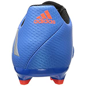 adidas Performance Kids' Messi 16.3 Firm Ground Soccer Cleats, Shock Blue/Matte Silver/Black, 3.5 M US Big Kid