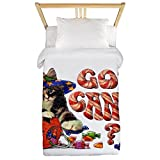 Twin Duvet Cover Halloween Got Candy Kitten Pumpkin