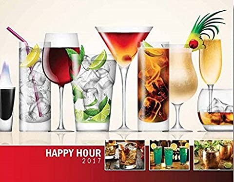 Happy Hour Cocktails 2018 Wall Calendar - World of Mixology 18.5