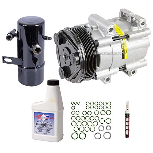 New AC Compressor & Clutch With Complete A/C Repair Kit For Ford Bronco Truck - BuyAutoParts 60-80213RK New