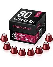Rosso Coffee Capsules for Nespresso Original Machine - 80 Gourmet Espresso Pods, Compatible with Nespresso Original Line Machines