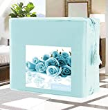 Luxury Duvet Cover Set on Amazon! - HIGHEST QUALITY Elegant Comfort Wrinkle-Free 1500 Thread Count Egyptian Quality 2-Piece Duvet Cover Set - FLOWERS Collection Twin/Twin XL, Aqua