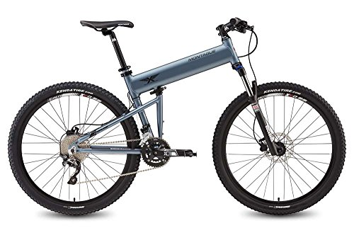 "Montague Paratrooper Highline 20"" Matte Gray 20 Speed Folding Mountain Bike"