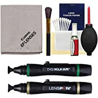 Canon Optical Lens and Digital SLR Camera Cleaning Kit with Brush, Microfiber Cloth, Fluid & Tissue + Blower + Lenspens for EOS 6D, 70D, 7D, 5DS, 5D Mark II III, Rebel T5, T5i, T6i, T6s, SL1