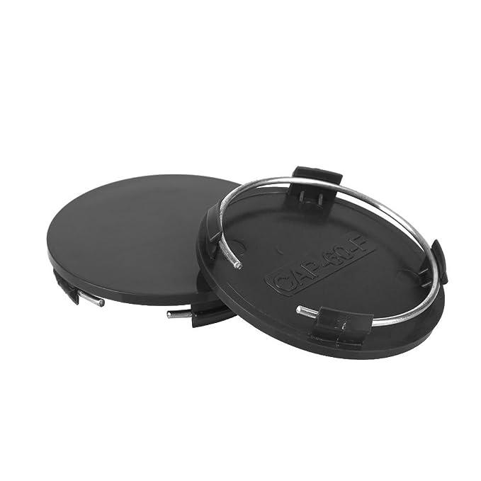 4 Piezas Negro a Prueba de Polvo de Sello herm/ético Duradero para Todo Tipo de Autos SSXY Cubierta Antipolvo para Llantas