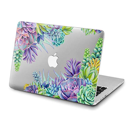 Lex Altern MacBook Air 13 Mac Pro 15 inch Case Retina 12 Cover Hard 11 2018 2017 2016 Apple Clear Succulent Flowers Purple Floral Laptop Slim Protective Cactus Shell 2015 Print Touch Bar Women Glossy