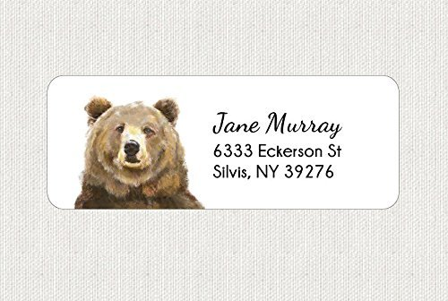 amazon com customized bear return address labels personalized