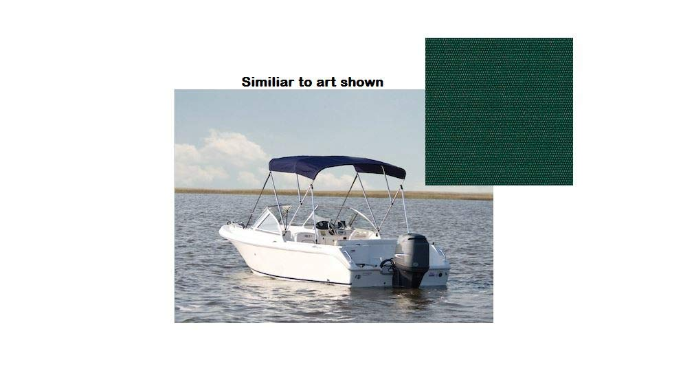 "90/""W BIMINI TOP BOAT COVER CANVAS FABRIC TEAL W//BOOT FITS 3 BOW 72/""L 54/""H 85/"""