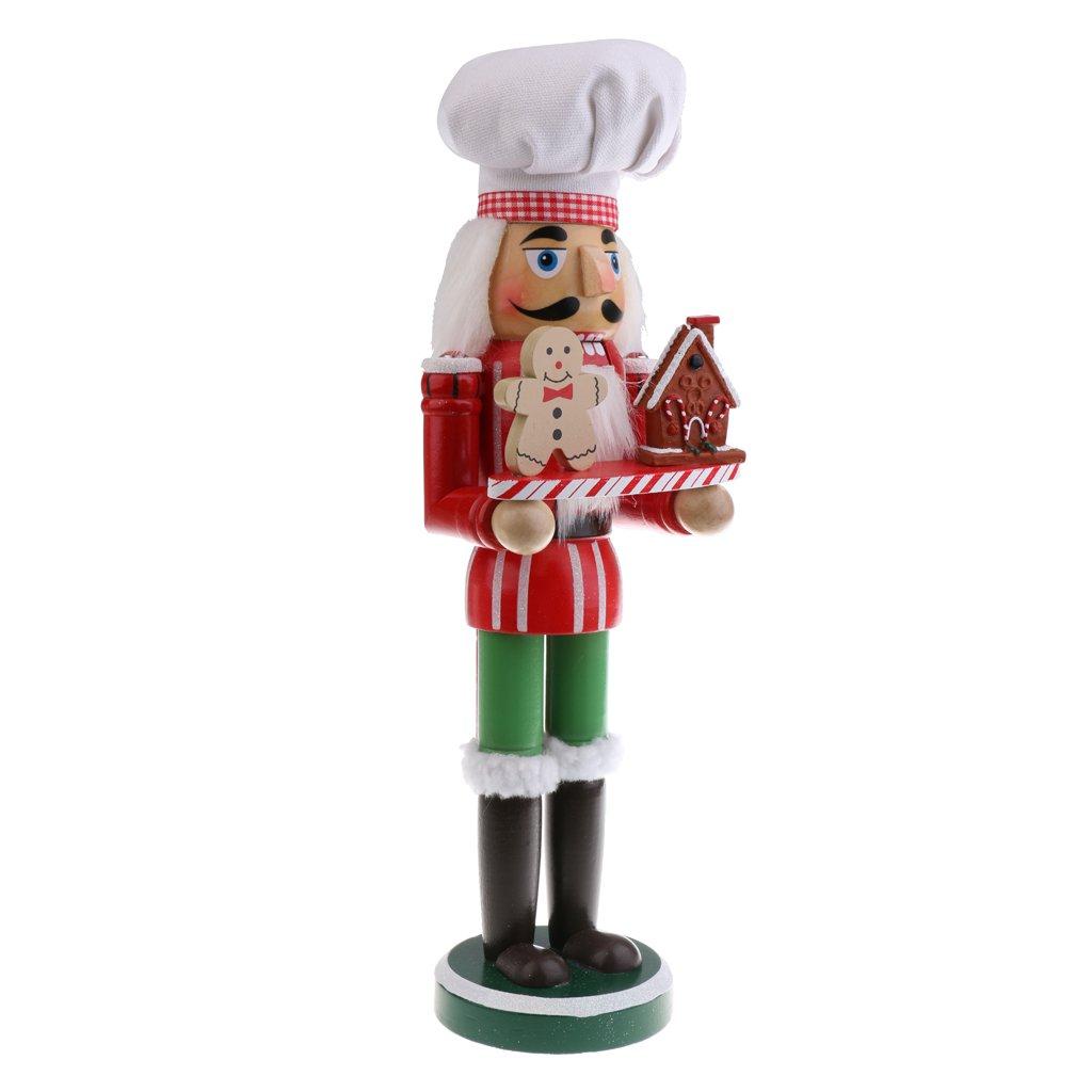 MagiDeal 36CM Casse-Noisette en Bois Figurine Peint /à La Main Objets de d/écoration Embellissement pour Maison Table Chef