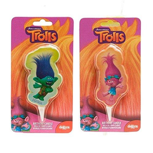 Vela 2d cumpleaños Trolls Poppy & Branch: Amazon.es ...
