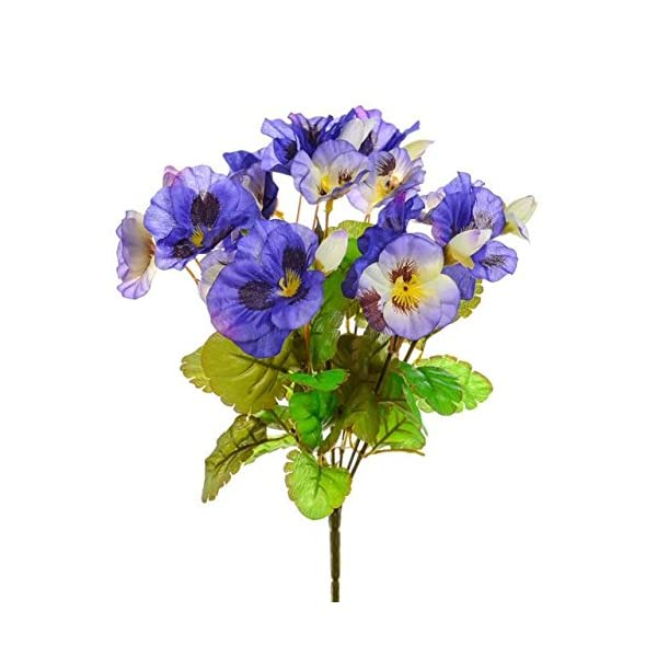CB Imports Artificial Pansy Bush, Purple by CB Imports