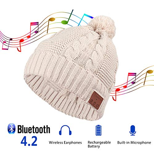 Pococina Upgraded 4.2 Bluetooth Beanie Music Hat Winter, used for sale  Delivered anywhere in USA