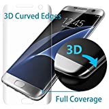 S7 Screen Protector,Galaxy S7 Screen Protector Tempered Glass,Full Coverage Screen Protector for Galaxy S7 HD Clear Anti-Bubble Film,1xPack