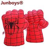 Junboys Plush Kids Boxing Glove Spiderman Toys Super Hero Spider Man Gloves, Smash Hands Fists Super...