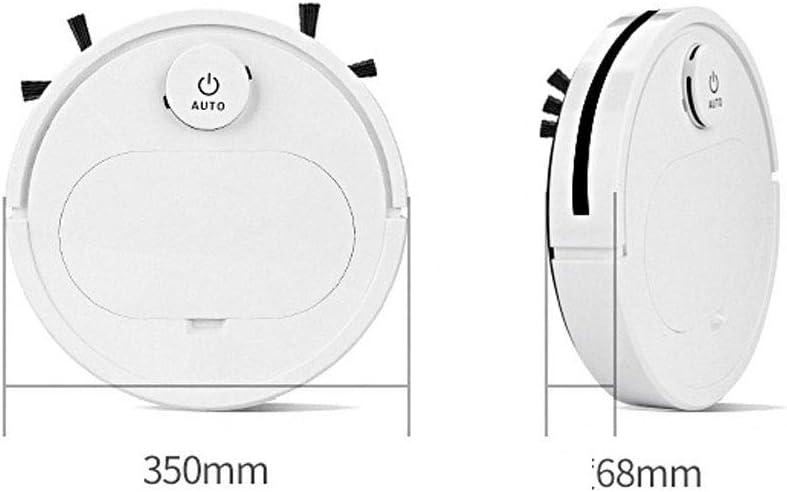 Aquila Mettre en Contact de Robot Intelligent de Balayage balayant Vide Rechargeable essuyage Trois-en-Un Appareil de Nettoyage AQUILA1125 (Color : White) White
