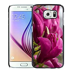 Unique DIY Designed Cover Case For Samsung Galaxy S6 With Purple Magnolias Flower Mobile Wallpaper 2 Phone Case