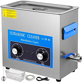 Mophorn 6L Ultrasonic Cleaner 304 Stainless Steel Professional Knob Control Amazing Ultrasonic Cleaners with Heater