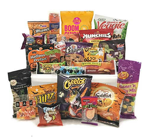 Happy Halloween Care Package – Campus Care Package – Halloween Gift! Great Gift Basket for Wishing a Happy Halloween! (Halloween Snack Pack)